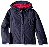 Columbia Girls' Youth Waterproof & Breathable Arcadia Jacket, Nocturnal/Haute Pink, Medium