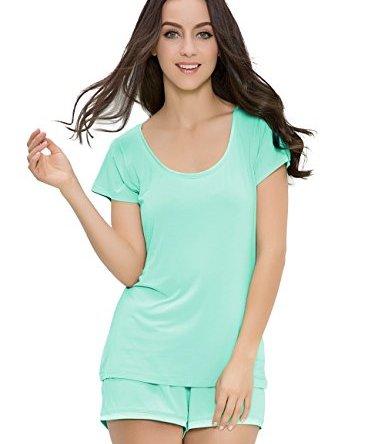 GYS Women's Soft Scoop Neck Shorts Pajama Set
