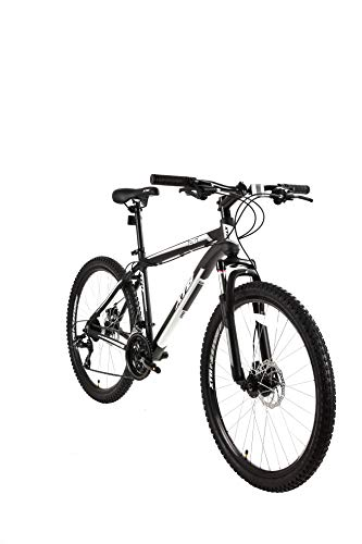 Tetran XTB Hard Tail Mountain Bike with Aluminum Frame, 26/29 Inch, Multi-Color and Size (Black, 26 Inch)