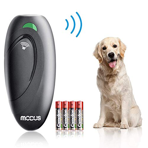 Ultrasonic Bark Control Device, Anti Barking Device Dog Training Aid 2 in 1 Control Range of 16.4 Ft W/Anti-Static Wrist Strap LED Indicate 100% Safe Walk a Dog Outdoor 1