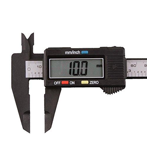 LiPing 150mm/6inch LCD Digital Electronic Carbon Fiber Vernier Caliper Gauge Micrometer (24x 8 x 1.5cm)