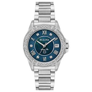 Bulova Women's Quartz Stainless Steel Casual Watch, Color:Silver-Toned (Model: 96R215)