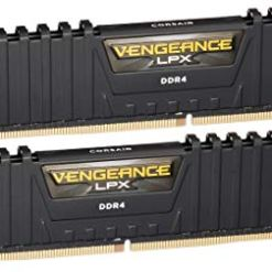 Corsair CMK16GX4M2B3200C16 Vengeance LPX 16 GB (2 x 8 GB) DDR4 3200 MHz C16 XMP 2.0 High Performance Desktop Memory Kit, Black