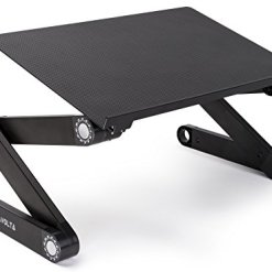 41qjt3AgBQL - Lavolta Ergonomic Laptop Table Desk Breakfast Bed Tray Book Holder - Black