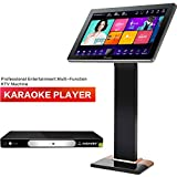 Karaoke Player, Karaoke Machine, InAndOn Dual System Split Type Home Entertainment Multi Function KTV Machine with 19.5'' 2K Touch Screen 3T HDD Free Infinite Cloud Download Wi-Fi Function Black