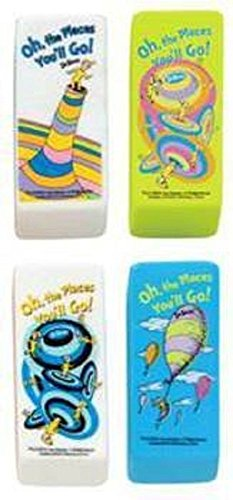 Dr Seuss Beveled Erasers-Oh The Places You'll Go - Set of 4