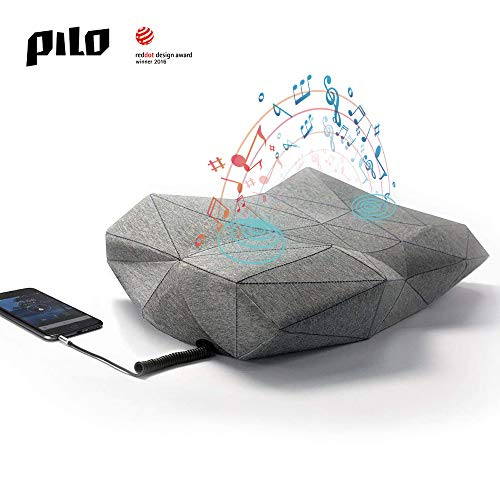 PILO Classic - Ergonomic Smart Music Pillow, Cervical Contour Neck Pillow for Sleeping Made of Memory Foam, Built-in Binaural Sound Speakers Pillow, Sound Sleep-aid App, Washable Cotton Pillow Case