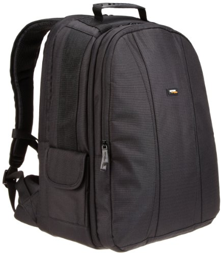 AmazonBasics DSLR Camera and Laptop Backpack Bag - 13 x 9 x 18 Inches, Black And Grey