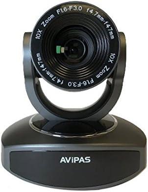 AV-1081G 10x HDMI PTZ Camera with IP Live Streaming - Dark Grey