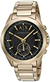Armani Exchange Men's Hybrid Smartwatch, Gold-Tone Stainless Steel, 44 mm, AXT1008