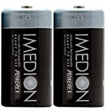 Powerex MHRCI2 Imedion C 5000mAh 2-Pack Rechargeable Batteries