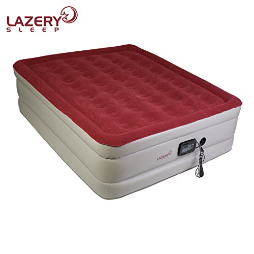 Lazery Sleep Air Mattress – Raised Electric Airbed with Built in Pump & Carry Bag – Fast Inflation, LED Remote Control & 7 Firmness Settings –Queen 78' x 58' x 19'