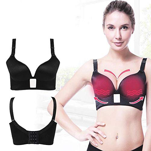 Electronic Breast Massager, Frequency Vibration Massage Bra with 42℃ Constant Warming Design Enlargement Enhancer