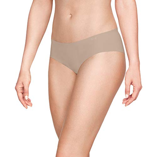 Under Armour Women's Pure Stretch Hipster 3 Pack, Nude (295)/Nude, Medium