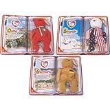 Mcdonald's Teenie Beanie Babies 2000 International Bears II - Set of 3 - Osito, Germania and Spangle by Ty Beanie Babies