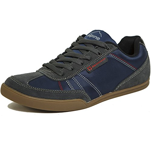 alpine swiss Men's Marco Trim Retro Fashion Tennis Shoes, Navy, 12