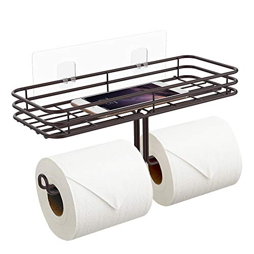 ODesign 2-in-1 Adhesive Toilet Paper Holder