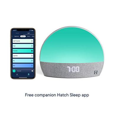 Hatch-Restore-Sound-Machine-Smart-Light-Personal-Sleep-Routine-Bedside-Reading-Light-Wind-Down-Content-and-Sunrise-Alarm-Clock-for-Gentle-Wake-Up
