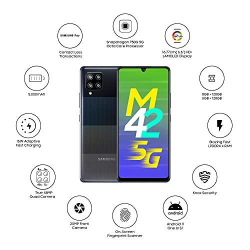 41rDN3i672S Samsung Galaxy M42 5G (Prism Dot Black, 8GB RAM, 128GB Storage)