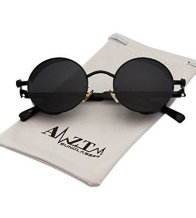 bbe704701aa AMZTM Small Round Mirrored Reflective Lens Polarized Sunglasses For Women    Men