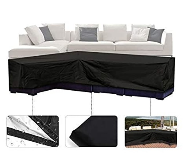 Amazon Com Essort Patio Sofa Cover Outdoor Sectional Furniture Cover Waterproof Garden Couch Cover L Shaped Garden Outdoor