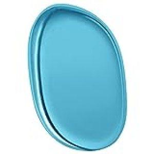 Premium Silicone Makeup Applicator Sponge - Cosmetic Blender for Even Application of Primer, Concealer, Foundation, Highlighter - Silisponge Alternative, Latex-Free. (Blue)