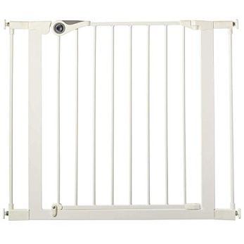 "North States 38.1"" Wide Essential Walk-Thru Gate: Ideal for securing hallways or doorways. Extra-Wide Doorway. Pressure Mount. Fits 29.8"" - 38.1"" Wide (30"" Tall, White)"
