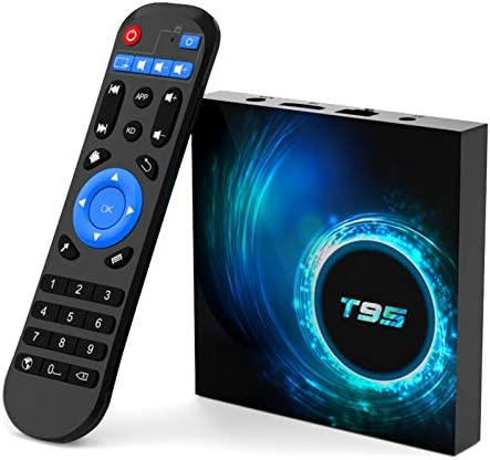 T95 Android tv Box 10.0,Allwinner H616 Quad-core 4GB RAM 128GB ROM Smart Android Stream Box ,Support 6K,3D,2.4G/5.0GHz Dual WiFi,10/100M Ethernet,Bluetooth 5.0,HDMI 2.0,H.265 Media Player 2020