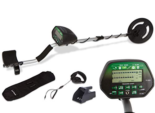 Treasure Cove TC-3020 Fortune Finder Digital Platinum Metal Detector Set for Adults with Waterproof Coil