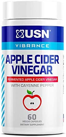 USN Vibrance Series Apple Cider Vinegar Supplement Capsules with Cayenne Pepper & Fermented Apple Cider Vinegar for Immune Support & Gut Health- 60 Veggie Capsules (Pack of 1) 1