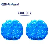 GoBroBrand Bubble Bumper Balls 2 pack of Inflatable Buddy hamster Bbop Ball set - Used also as Giga Sumo Wearable human zorb soccer Suits for outdoor play. Size: 36