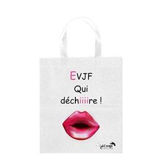 Sublimagecreations-Tote-Bag-Enterrement-Vie-de-Jeune-Fille-Rose-EVJF-Rose-Mariage-Sac-Course-ide-Cadeau-Sac-Shopping-cabat