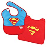 Bumkins Baby Bib, DC Comics Waterproof SuperBib with Cape, Superman (6-24 Months)