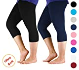 Product review of Premium Soft Light Comfy Fit Bamboo Capri Pants Under Dress Leggings for Women Regular and Plus Size