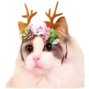 Cat Elk Antler Reindeer Hat Cap Dog Cat Pet Christmas Costume Outfits Small Big Dog Hat Headwear Hair Grooming Accessories