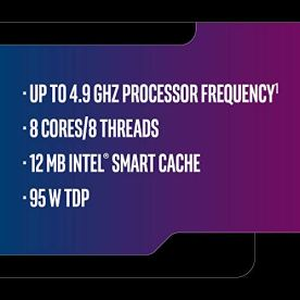 Intel Core i7-9700K Desktop Processor 8 Cores up to 4.9 GHz Turbo
