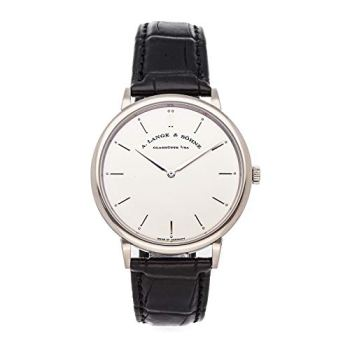 A. Lange & Sohne Saxonia Mechanical (Hand-Winding) Silver Dial Mens Watch 211.026 (Certified Pre-Owned)