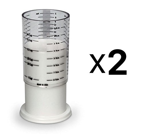Norpro Adjustable Wonder 1 Cup Measuring Wet & Dry Conversion Chart (2-Pack)