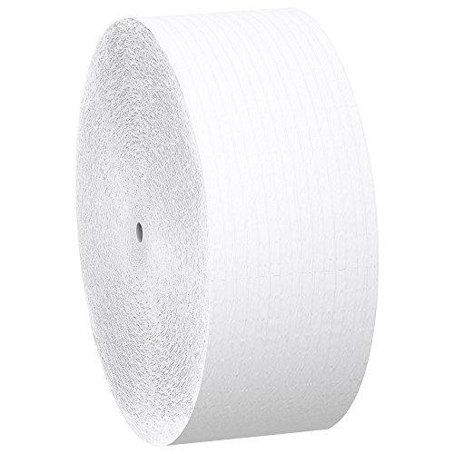 Scott Essential Jumbo Roll JR. Coreless Toilet Paper (07005), 2-PLY, White, 12 Rolls / Case, 2,300′ / Roll