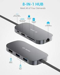 USB-C-Hub-TOTU-8-In-1-Type-C-Hub-with-Ethernet-Port-4K-USB-C-to-HDMI-2-USB-30-Ports-1-USB-20-Port-SDTF-Card-Reader-USB-C-Power-Delivery-Portable-for-Mac-Pro-and-Other-Type-C-Laptops-Silver
