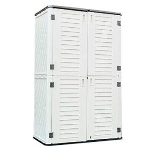 Kinying Outdoor Storage Cabinet, Vertical Storage Shed Perfect to Store Patio Furniture, Garden Tools Accessories,Bike…