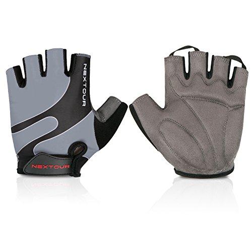 Cycling Gloves Mountain Bike Gloves Half Finger Road Racing Riding Gloves with Light Anti-slip Shock-absorbing Biking Gloves for Men and Women