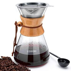 COSORI Pour Maker, 34 Ounce Glass Coffee Pot&Coffee Brewer with Stainless Steel Filter High Heat Resistance Decanter… 5