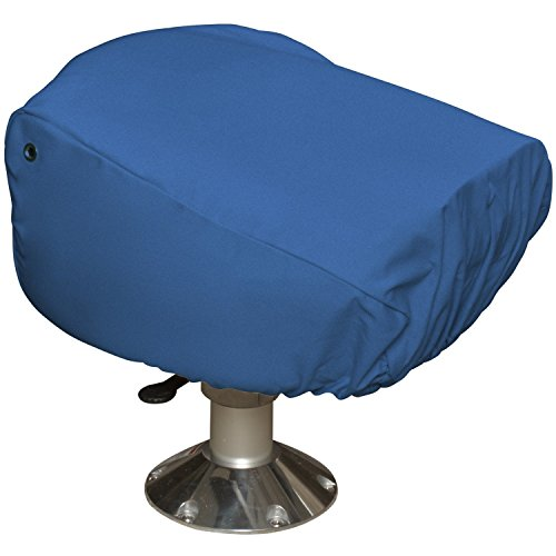 Budge Single Boat Seat Cover Fits a Single Boat Seat 22' Long x 19' Wide x 21' High, BA-10 (Blue)