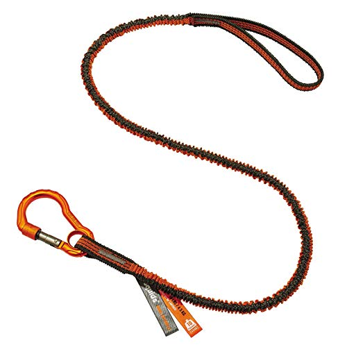 Shock Absorbing Tool Lanyard with Self-Locking Carabiner & Loop End, Tool Weight Capacity 10Lbs, Ergodyne Squids 3100