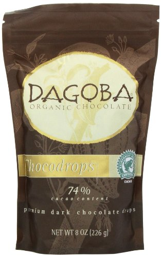 DAGOBA CHOCODROPS Premium Chocolate Drops, 8 Ounce