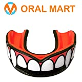 Oral Mart Vampire Fangs Sports Mouth Guard - Adult Sports Mouth Guard for Karate, Boxing, Sparring, MMA, Football, Field Hockey, BJJ, Muay Thai,Soccer, Rugby, Martial Arts