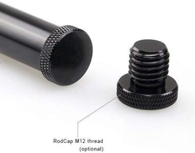 SMALLRIG-4-Inches-10-cm-Black-Aluminum-Alloy-15mm-Rod-with-M12-Female-Thread-Pack-of-2--1049