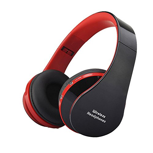 YHhao Over-Ear Headphones, On-Ear Headsets Noise Cancelling Foldable Headphones with Mic and 3.5mm Detachable Cord for iPhone, iPad, Android Smartphones, PC, Computer, Laptop, Mac, Tablet , RedBlack