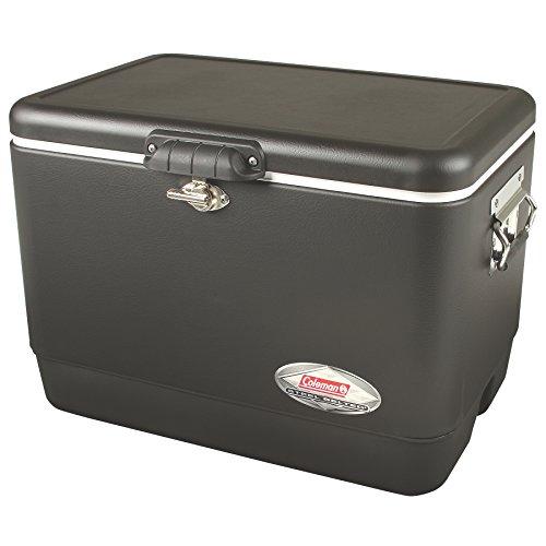 Coleman Steel-Belted Portable Cooler, 54 Quart, Black